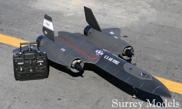 Radio Controlled LX SR71 Black Bird Jet