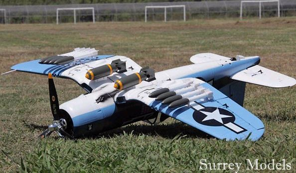 Remote Control Electric Warbird Plane