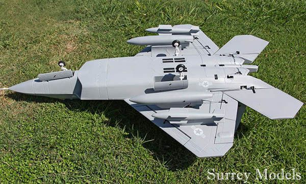 RC Surrey Models F22 Raptor Twin EDF 70mm Jet