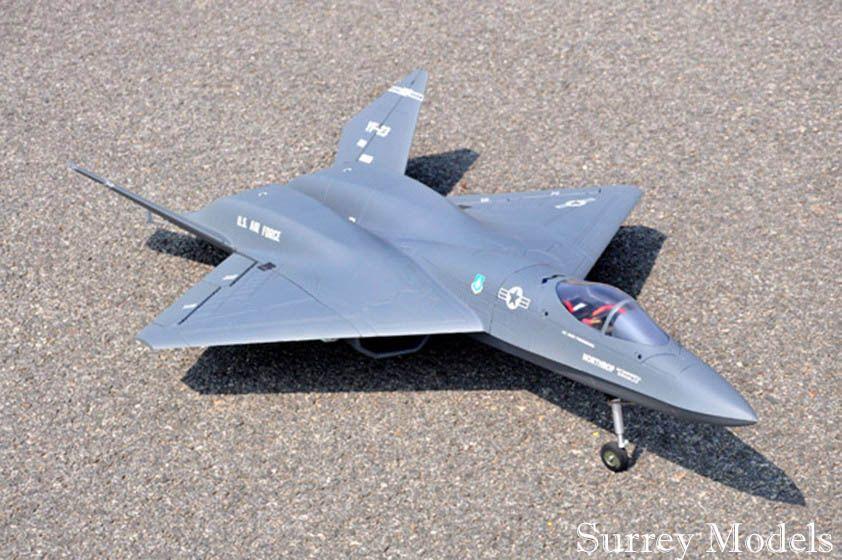 RC Surrey Models YF23 Grey Ghost Jet