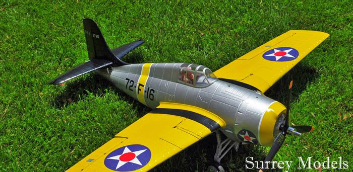 Radio Controlled Large Scale Electric Warbird  Fighter Plane