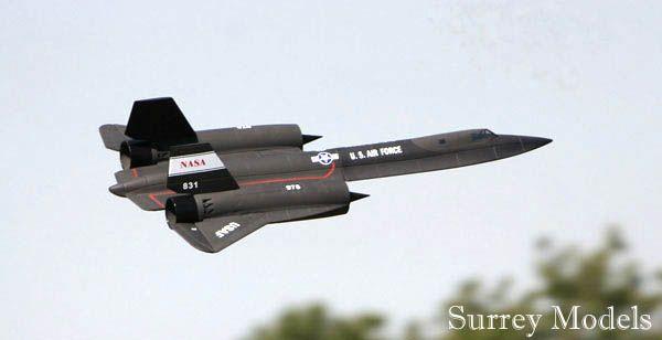 RC Surrey Models SR71 Black Bird Jet