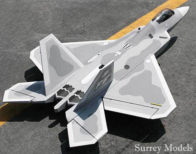 Radio Controlled Surrey Models F22 70mm Jet